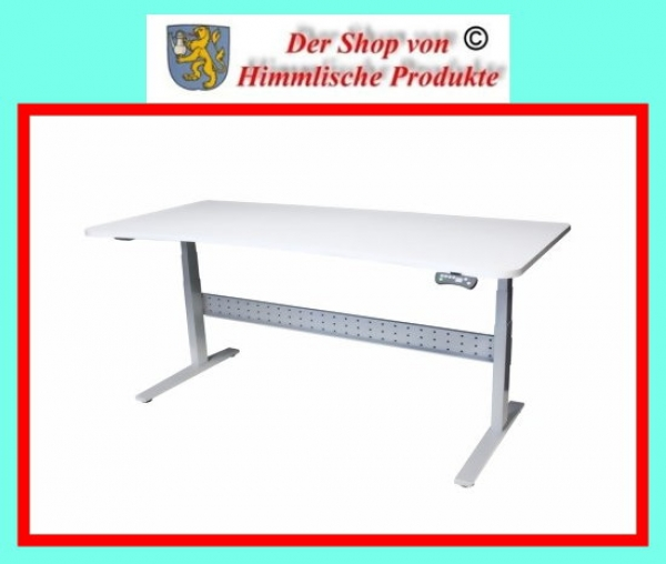 Hubtisch  Bürotisch mit hellgrauer Tischplatte