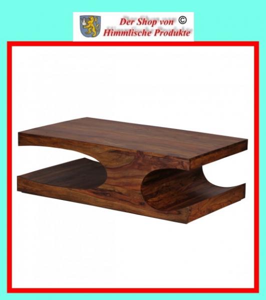 wohnling sheesham massivholz couchtisch mit ablagef chern 118 x 70 cm. Black Bedroom Furniture Sets. Home Design Ideas