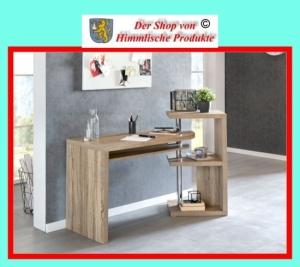 wohnling schreibtisch 145x50x94cm sonoma b rotisch computertisch. Black Bedroom Furniture Sets. Home Design Ideas
